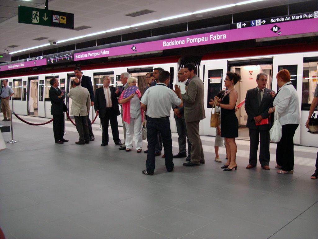 L'andana de l'estació